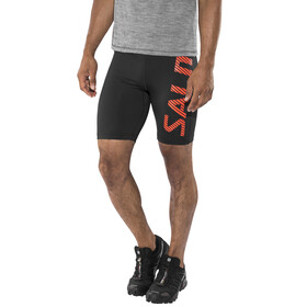 Salming Power Logo Tights Men Black/Orange